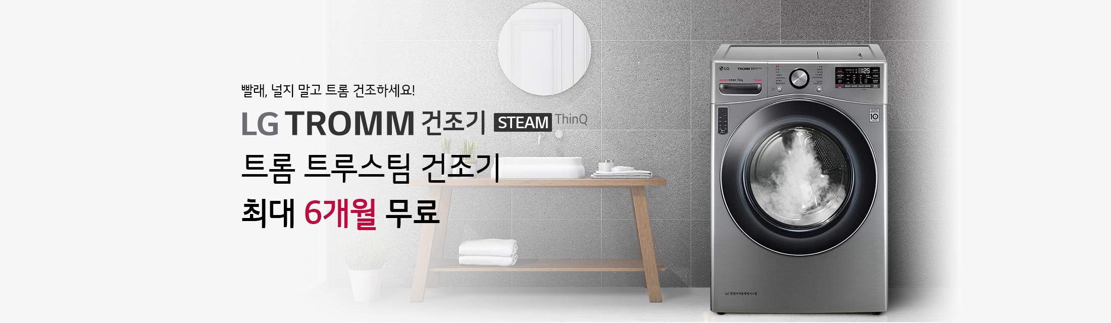 LG 트롬 트루스팀 건조기 최대 6개월 무료