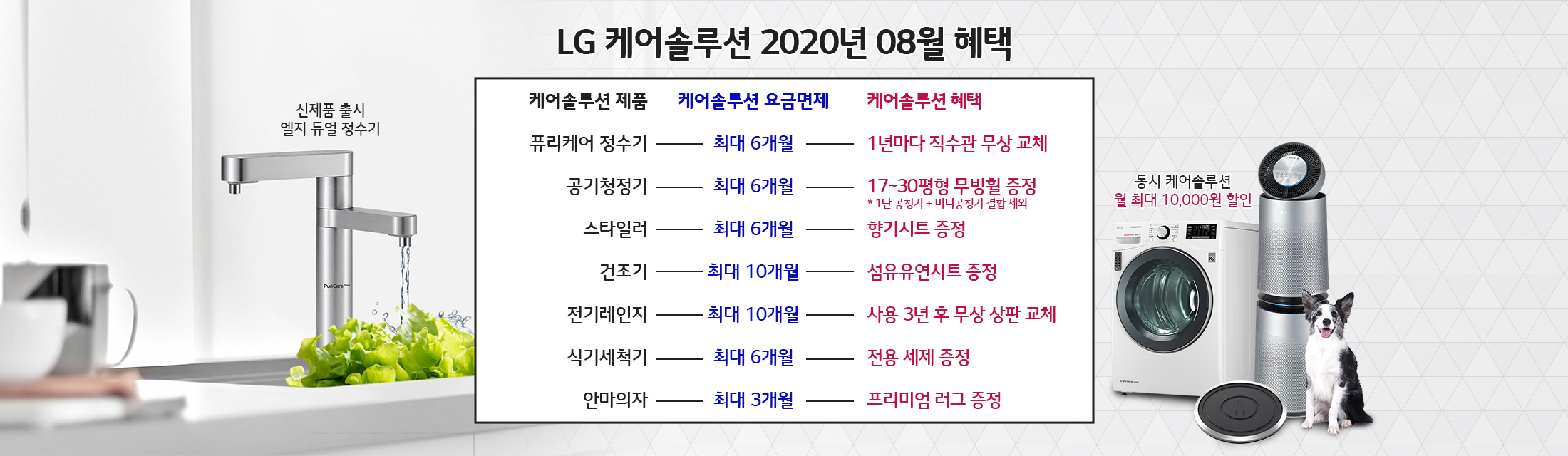 LG 케어솔루션 2020년 07월 혜택