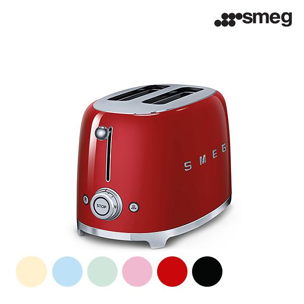 [smeg] 스메그 2 slice 토스터기 TSF01 레드, 크림, 핑크, 파스텔 그린, 파스텔 블루, 블랙★색상 선택 필수