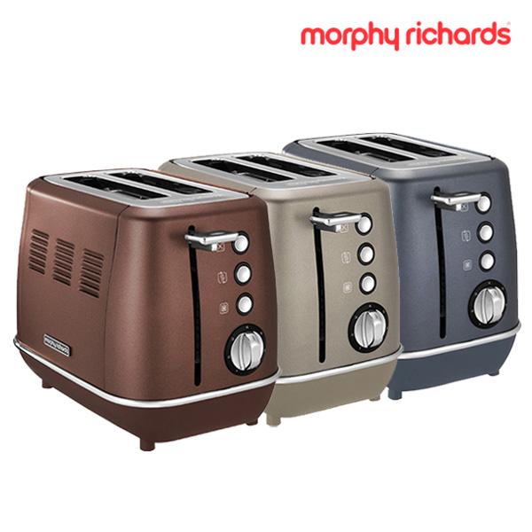 [morphy richards] 모피리처드 Evoke 토스터기 2구 브론즈,플래티늄, 블루스틸★색상 선택 필수