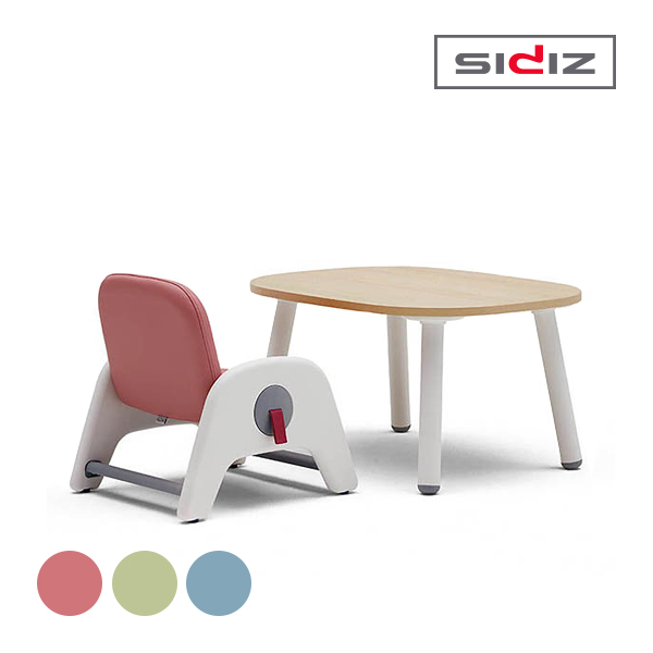 [SIDIZ] 시디즈 유아 아띠 책상 의자 세트(책상-시공상품, 의자-택배발송으로 7일소요, 분리배송) 핑크, 그린, 블루★색상 선택 필수